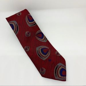GUC - Christian Dior - Men's Red Patterned Tie